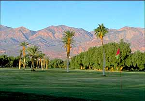 The recently renovated 18-hole Golf Course at Furnace Creek Ranch, Death Valley, is open all year. It's the world's lowest at 214 feet below sea level.