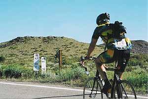 Maarten van der Meide pedalled 1000 miles across southern Nevada in March.