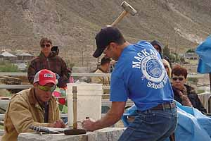 The exciting and fast-moving State Championship Mining Competition begins at the Tonopah Historic Mining Park right after the Jim Butler Day Parade on Saturday morning, May 23. Winners will vie for the World Championship titles to be held in Carson City after the October 31st Nevada Day Parade. The Mining Park is on the hillside in back of the Mizpah Hotel, and is open free of charge during Jim Butler Weekend. Bring the whole family and make a weekend excursion into the past.