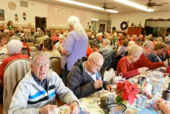 Dining at the Community/Senior Center in Gardnerville Nevada