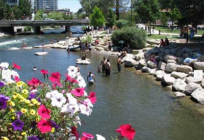 Truckee River Walk, downtown Reno Nevada