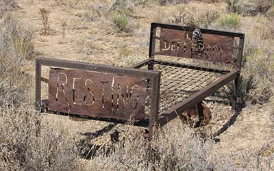 Lee Deffenbach, Tuscarora Nevada cemetery