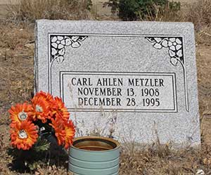 Carl Metzler in th Tuscarora Nevada cemetery