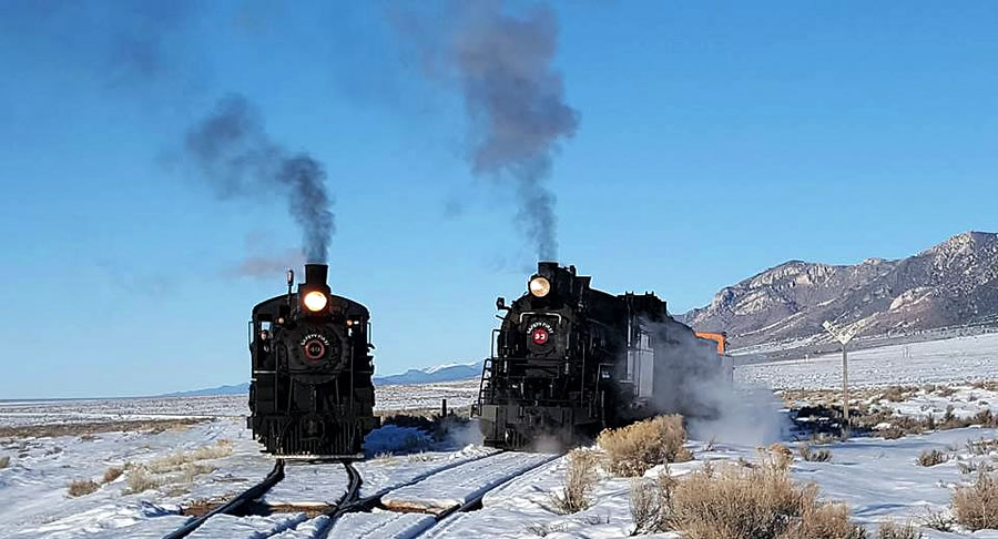 Winter Steam Photo Shoot Spectacular Nevada Northern Railway Ely The Nevada Travel Network