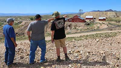 Visitors at the Tonopah Historic Mining Park