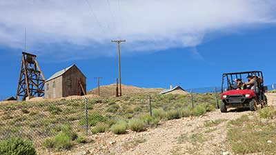 Polaris tour at the Tonopah Historic Mining Park