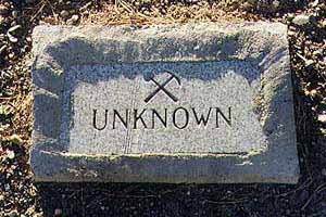 Grave marker, Dayton Nevada
