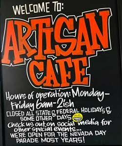 Artisan Cafe, Carson City Nevada