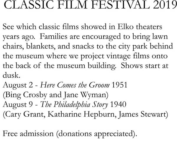 Classic Film Festival at the Northeastern Nevada Museum